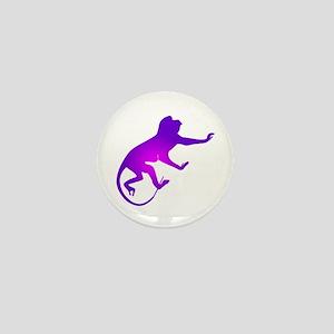 Tie Die Purple Monkey Mini Button