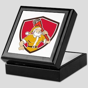 Santa Claus Plumber Monkey Wrench Shield Cartoon K