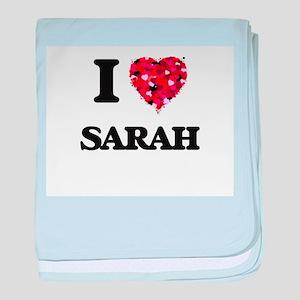 I Love Sarah baby blanket