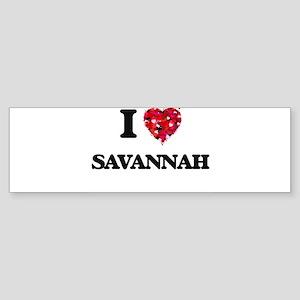 I Love Savannah Bumper Sticker