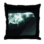 Canada Souvenir Beluga Art Throw Pillow