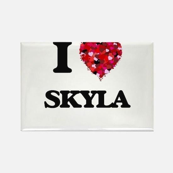 I Love Skyla Magnets