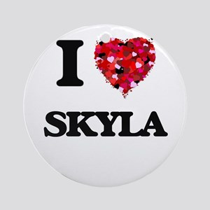I Love Skyla Ornament (Round)