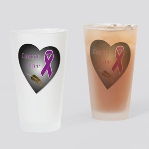 Cancer Free Drinking Glass