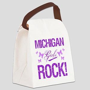 Michigan Girls Rock Canvas Lunch Bag