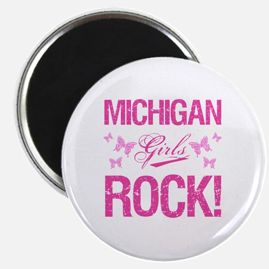 Michigan Girls Rock Magnet