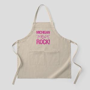 Michigan Girls Rock Apron