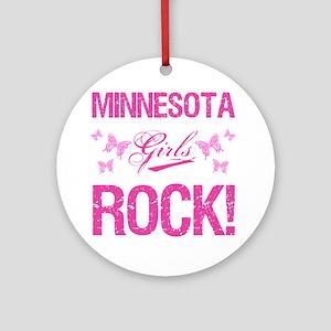 Minnesota Girls Rock Round Ornament