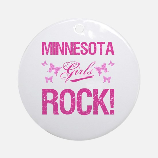 Minnesota Girls Rock Round Ornament