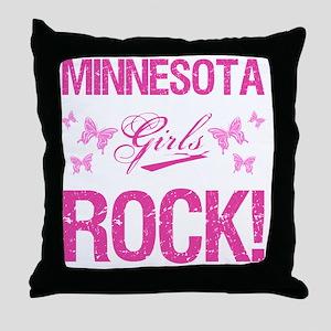 Minnesota Girls Rock Throw Pillow