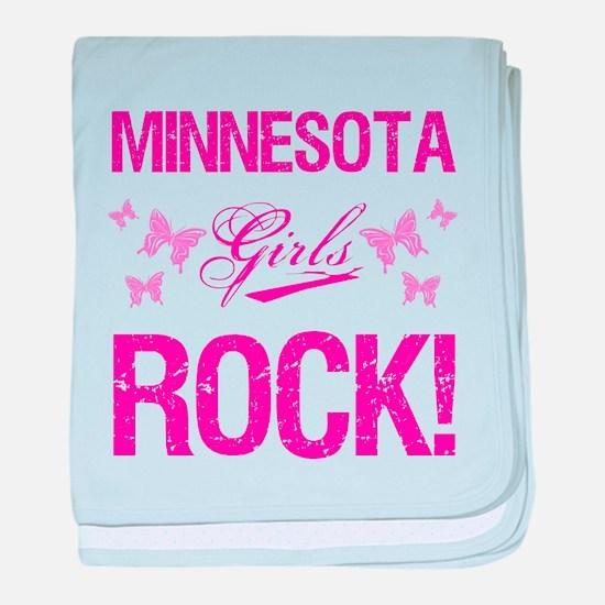 Minnesota Girls Rock baby blanket