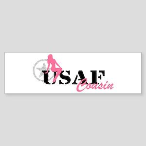 Sexy USAF Cousin - pnk Bumper Sticker