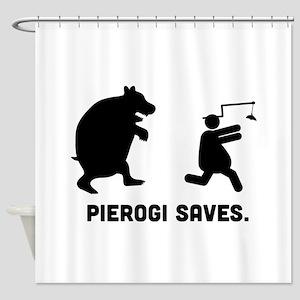 Pierogi Shower Curtain