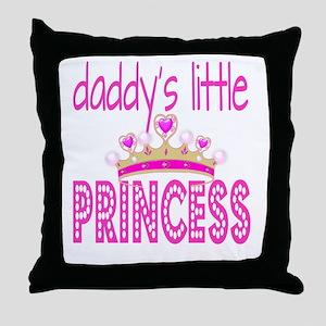 Daddy's Little Princess! Throw Pillow
