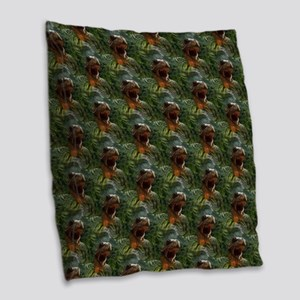 jurassic dinosaur Burlap Throw Pillow