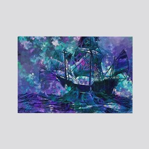 Abstract Pirate Ship Painting Magnets