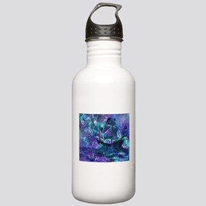 Abstract Pirate Ship Painting Water Bottle