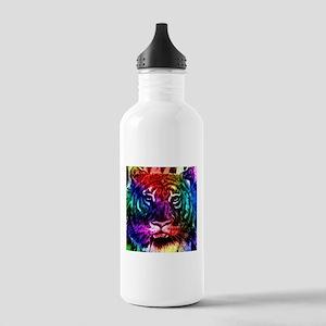Artsy Rainbow Tiger Water Bottle