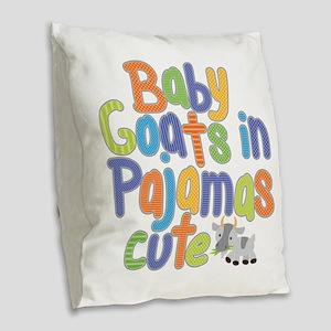 Baby Goats Burlap Throw Pillow