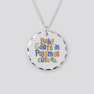 Baby Goats Necklace Circle Charm