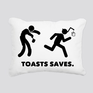 French Toast Rectangular Canvas Pillow