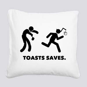 French Toast Square Canvas Pillow