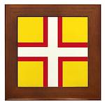 Dorset Flag Framed Tile