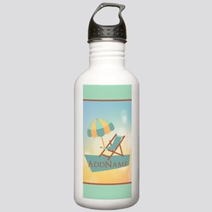 Summer Beach Umbrella Stainless Water Bottle 1.0L