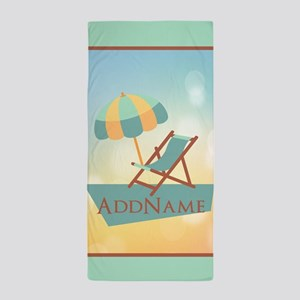 Summer Beach Umbrella Personalized Beach Towel