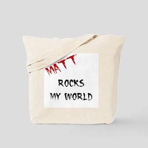 Matt Rocks My World Tote Bag