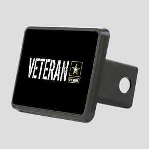 U.S. Army: Veteran (Black) Rectangular Hitch Cover