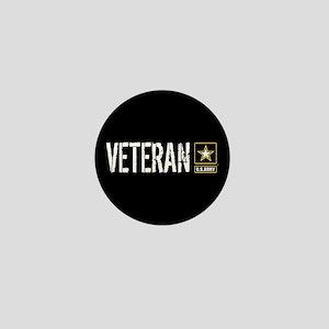 U.S. Army: Veteran (Black) Mini Button