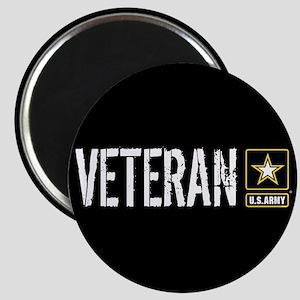 U.S. Army: Veteran (Black) Magnet