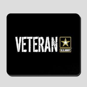 U.S. Army: Veteran (Black) Mousepad