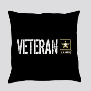 U.S. Army: Veteran (Black) Everyday Pillow