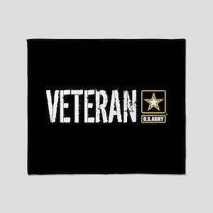 U.S. Army: Veteran (Black) Throw Blanket