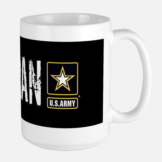 U.S. Army: Veteran (Black) Large Mug