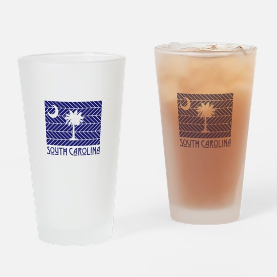 South Carolina Chevron Flag Drinking Glass