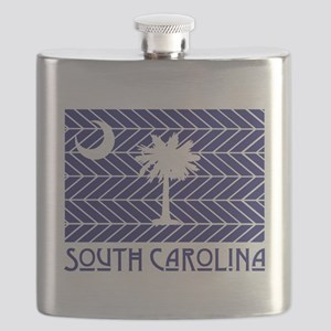 South Carolina Chevron Flag Flask