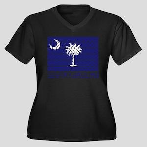 South Carolina Chevron Flag Plus Size T-Shirt