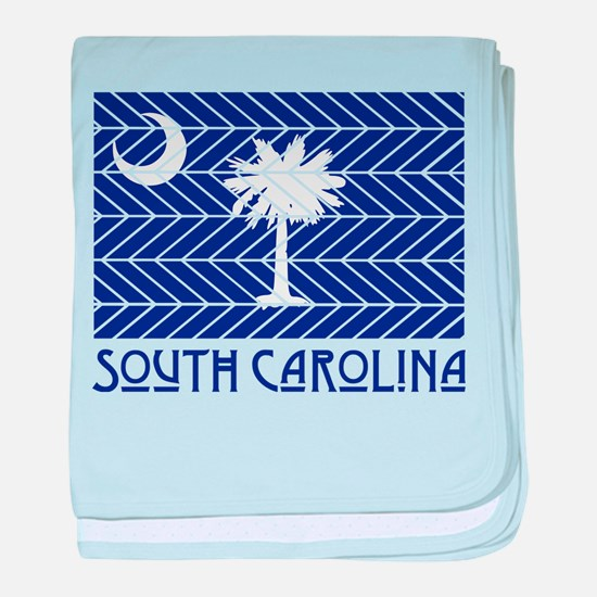 South Carolina Chevron Flag baby blanket