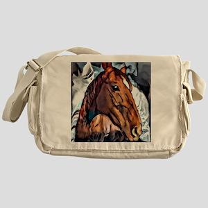 Horse Portrait by LH Messenger Bag