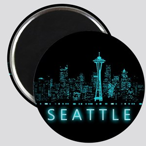 Digital Cityscape: Seattle, Washington Magnet