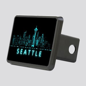 Digital Cityscape: Seattle Rectangular Hitch Cover