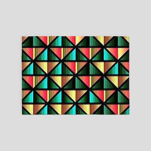 Emerald triangles 5'x7'Area Rug