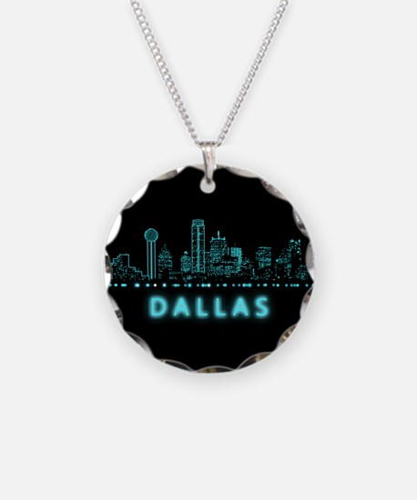 Digital Cityscape: Dallas, T Necklace