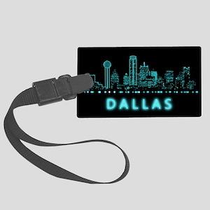Digital Cityscape: Dallas, Texas Large Luggage Tag