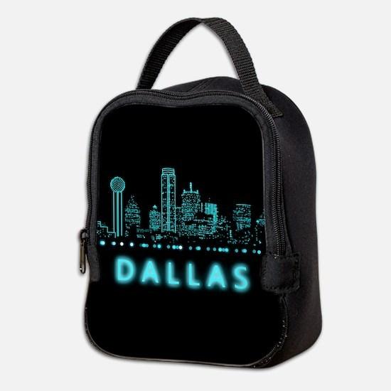 Digital Cityscape: Dallas, Texa Neoprene Lunch Bag