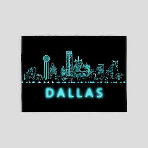 Digital Cityscape: Dallas, Texas 5'x7'Area Rug
