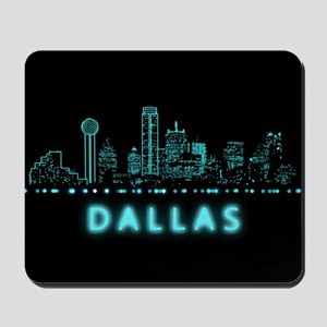 Digital Cityscape: Dallas, Texas Mousepad